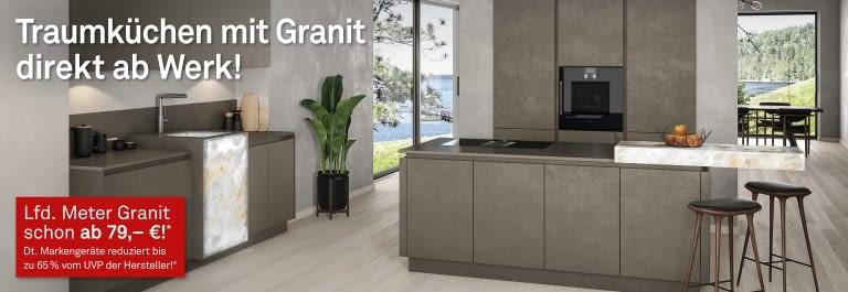 K chen mit granit zum top preis for Kuchen direkt ab werk