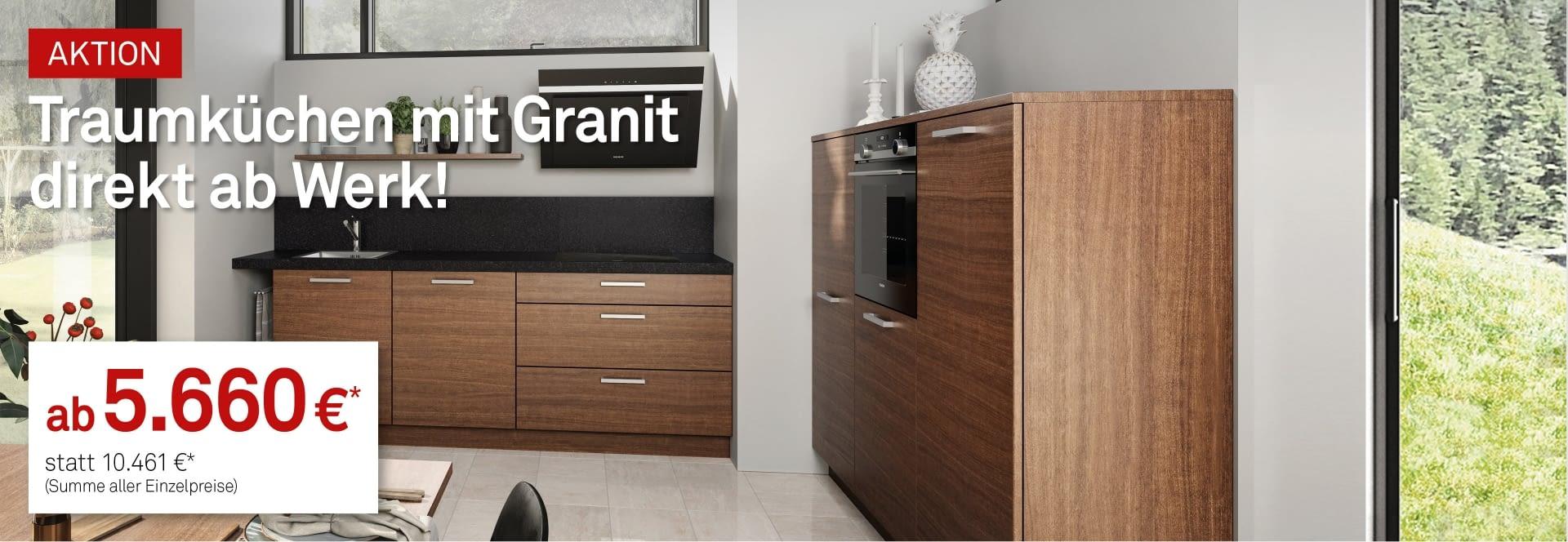 k chen mit granit zum top preis. Black Bedroom Furniture Sets. Home Design Ideas