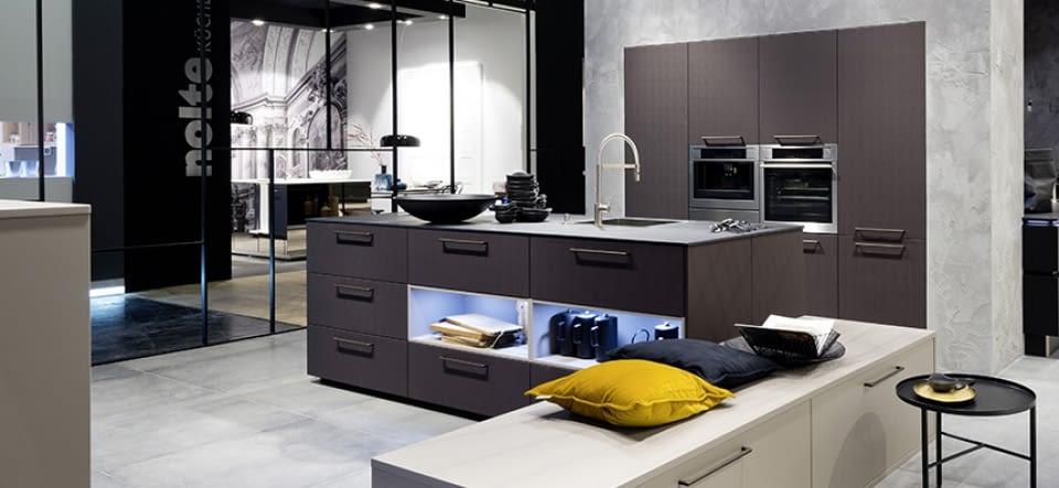 Design Inselküche Brasilbraun Front Und Spa Molino
