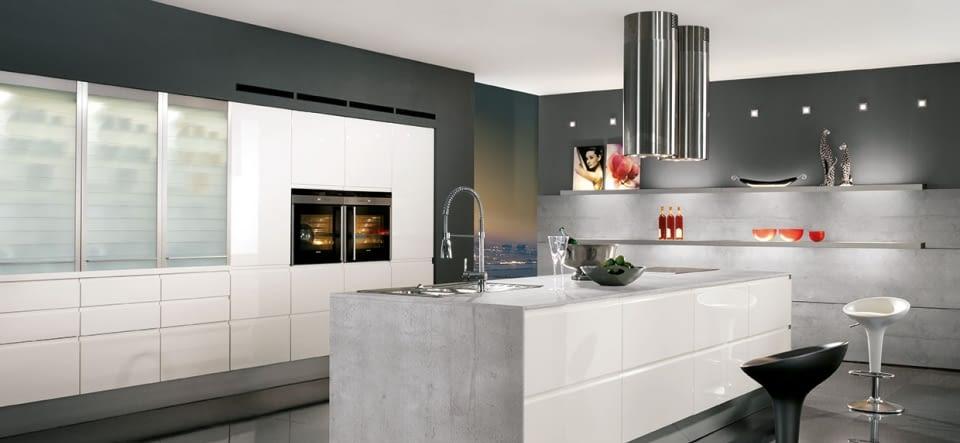 moderne inselk che artwood asteiche natur und stone basalt. Black Bedroom Furniture Sets. Home Design Ideas