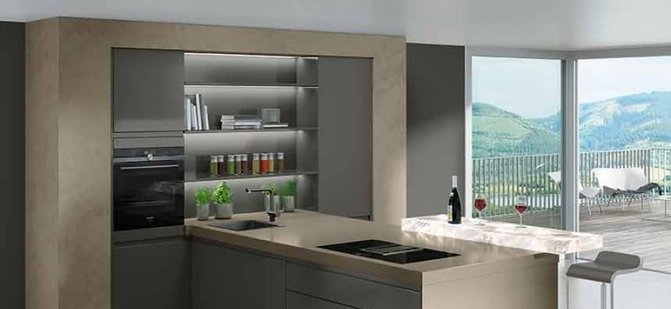 design k che in tiefblau softmatt marquardt k chen. Black Bedroom Furniture Sets. Home Design Ideas
