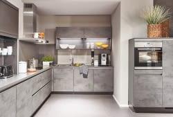 Designküche Riva Beton mit Cemento Molino - Marquardt Küchen