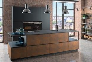 1 KÜCHE Mit Black Star Naturstein Lassen Sie Sich Von Dieser Küche Im  Industriellen Design Mit Granit Beeindrucken.