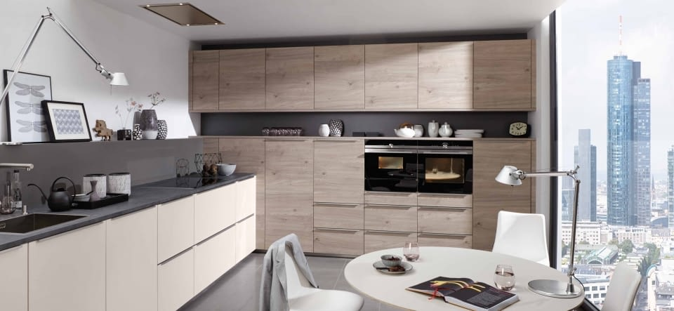 grifflose l k che mit elektroger ten von neff und naturstein marquardt k chen. Black Bedroom Furniture Sets. Home Design Ideas