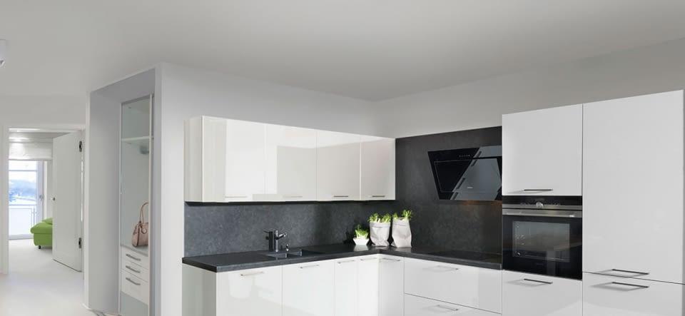 Klassische L-Küche Laser Seidengrau mit Gris Anthacita – Marquardt ...