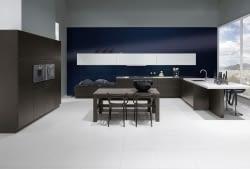 U-Küche Pinie schwarzbraun mit Zenith