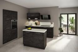 Klassische Küchenzeile mit Quarzstein Arbeitsplatte - Marquardt Küchen
