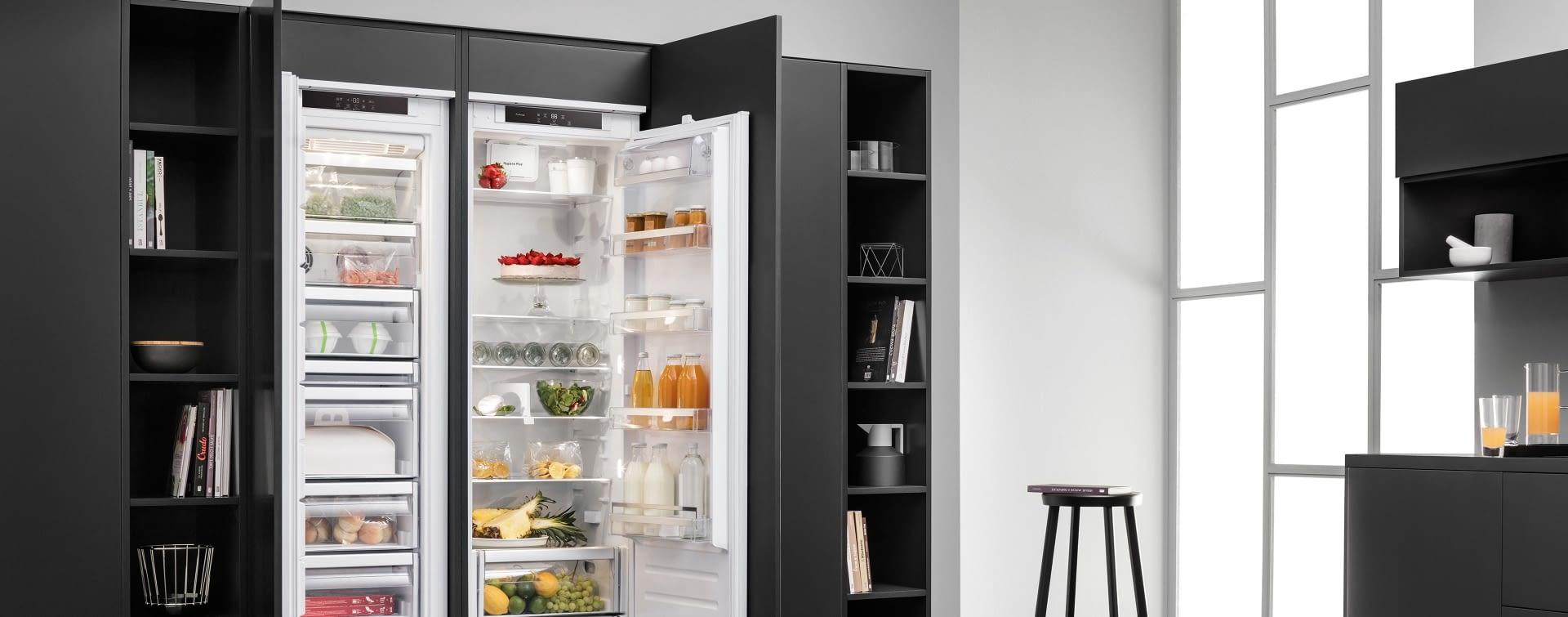 side by side k hlschrank marquardt k chen. Black Bedroom Furniture Sets. Home Design Ideas
