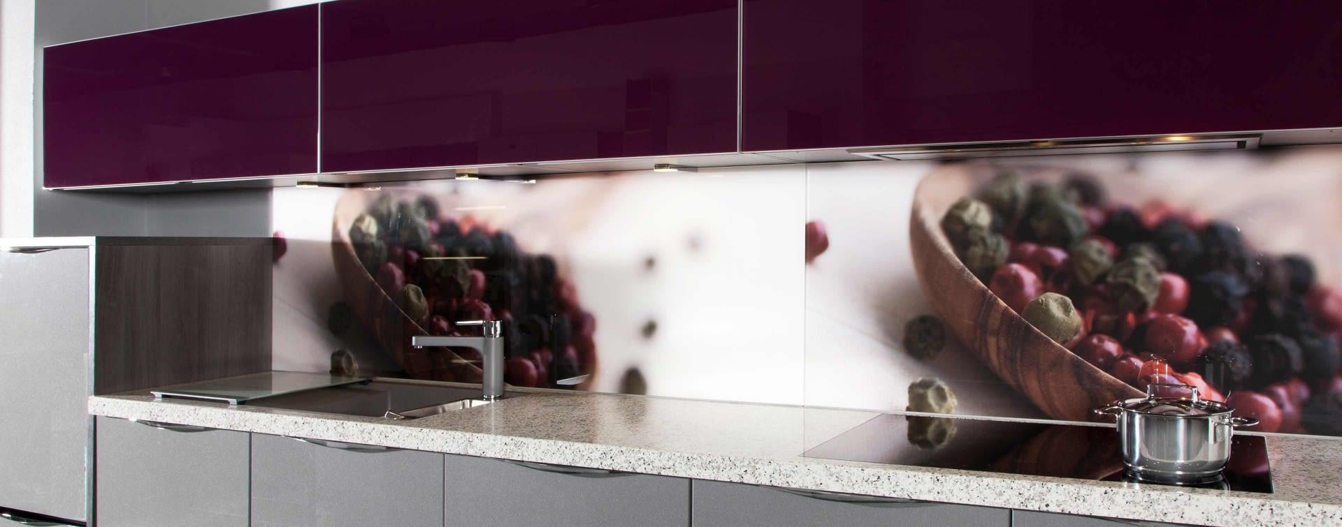 nischenpaneele aus glas marquardt k chen. Black Bedroom Furniture Sets. Home Design Ideas