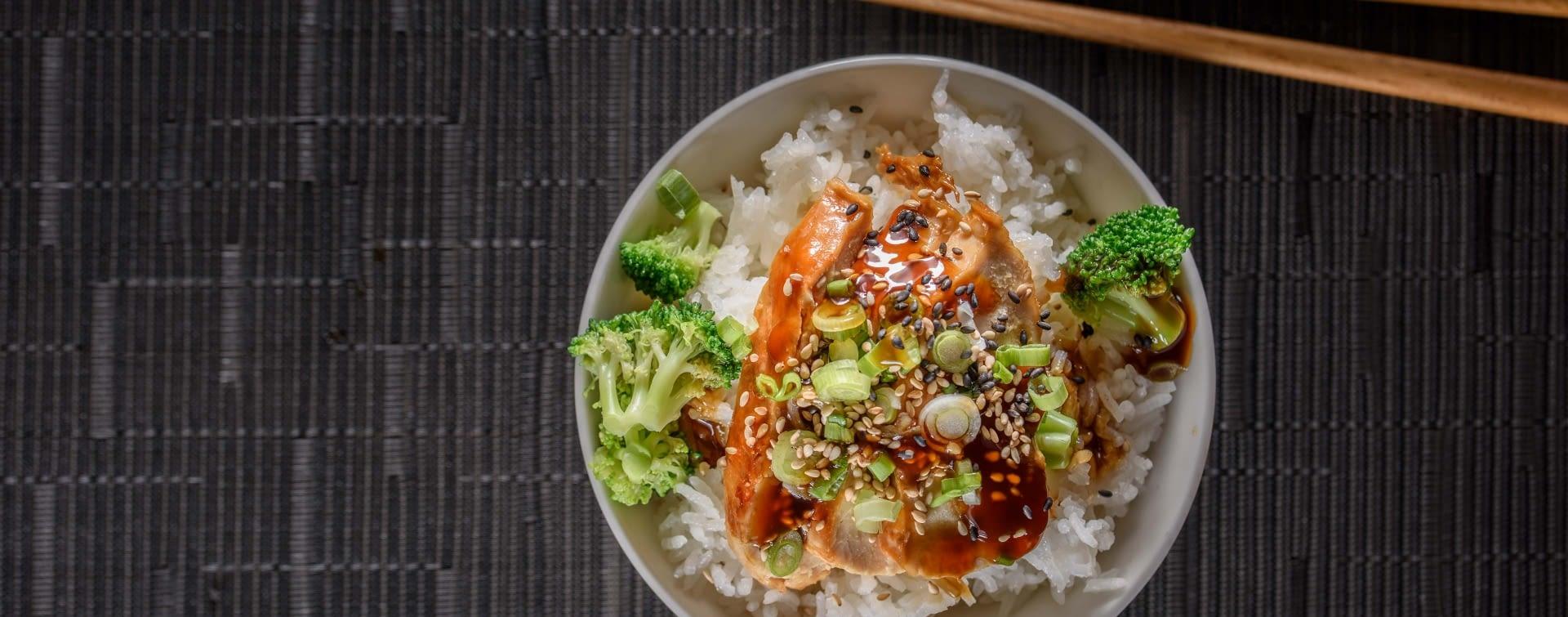 Reis mit Hähnchen-Teriyaki - Marquardt Küchen