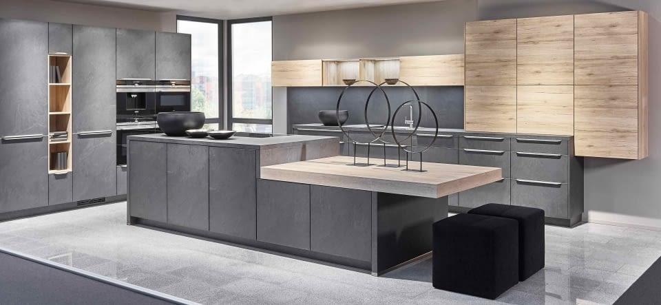 arbeitsplatten aus quarz edelstahl und glas marquardt k chen. Black Bedroom Furniture Sets. Home Design Ideas