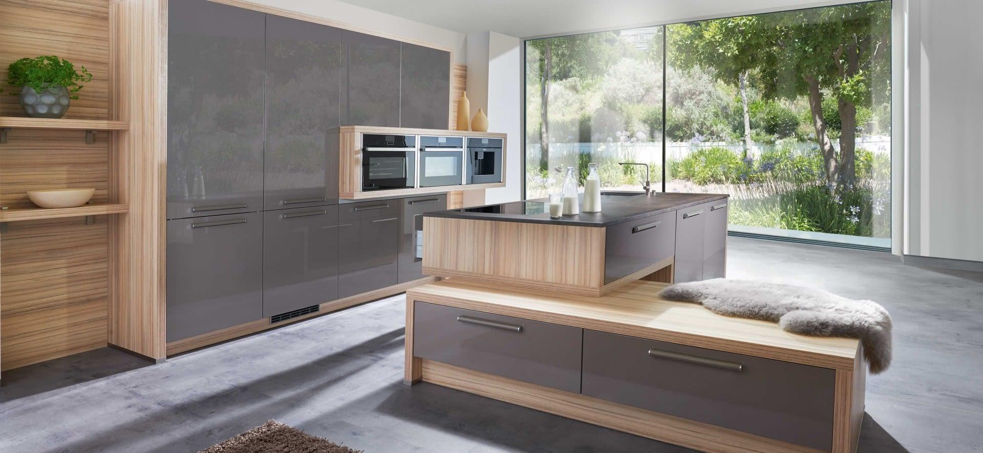 inselk che nova lack magma mit erz braun marquardt k chen. Black Bedroom Furniture Sets. Home Design Ideas
