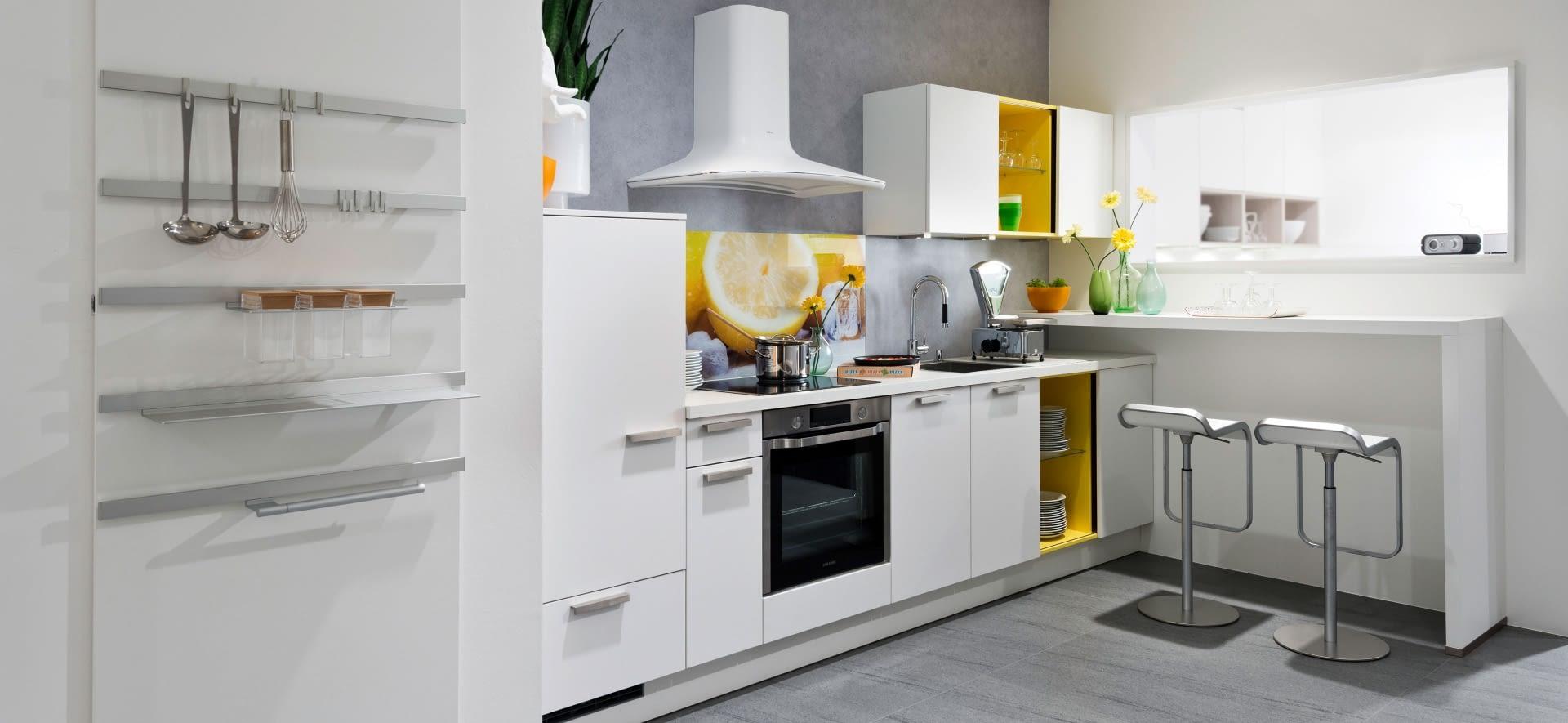 design k chenzeile touch wei softmatt mit blanco zeus. Black Bedroom Furniture Sets. Home Design Ideas