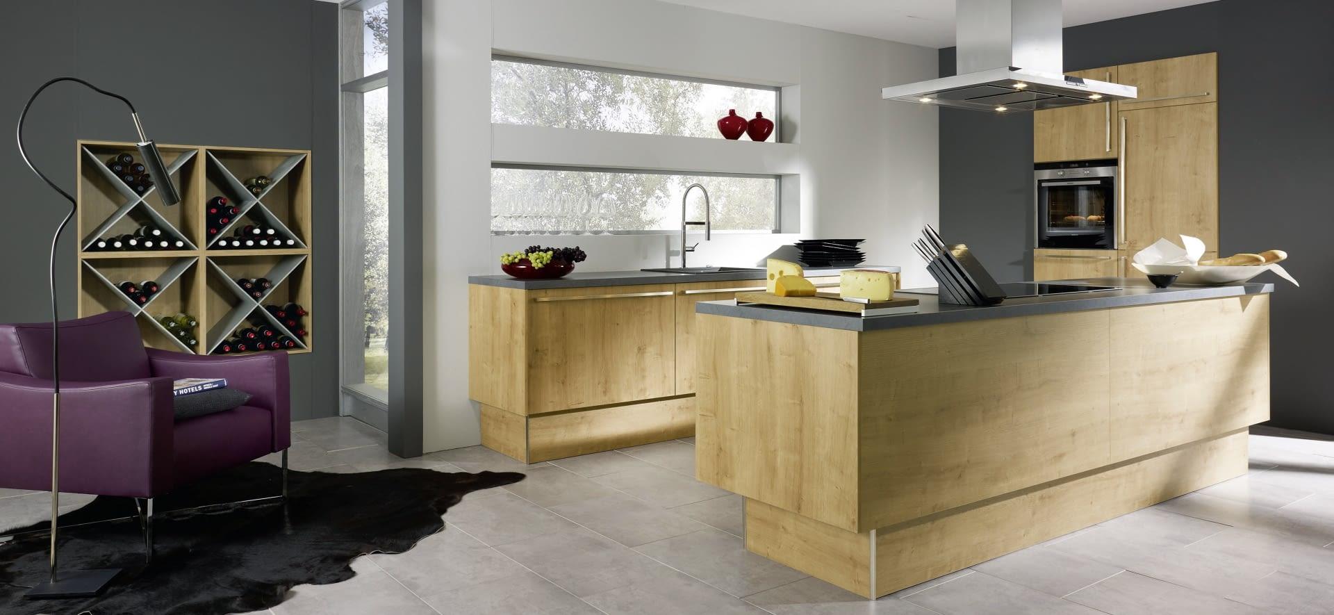 Küche 2 Zeilen : 2 zeilen in manhattan chalet eiche mit cemento molino ~ Orissabook.com Haus und Dekorationen
