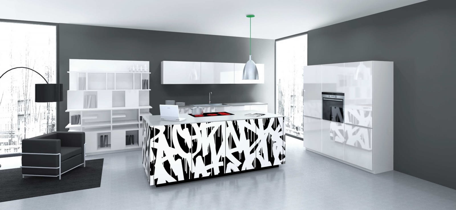 moderne inselk che nolte neo mit quarzstein blanco zeus. Black Bedroom Furniture Sets. Home Design Ideas