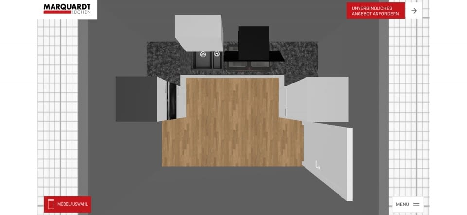 Geplante mini küche mit 3d küchenplaner app